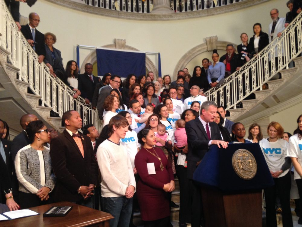 Nyc Paid Leave Signing