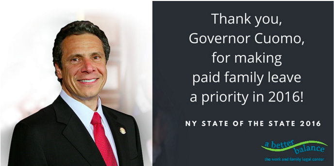 Governor Cuomo Champions Paid Family Leave For New York