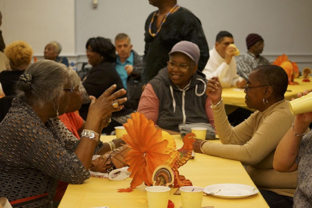 Thanksgiving Dinner With Chosen Family At SAGE-GRIOT Innovative Senior Center Of Brooklyn. Photo Courtesy Of SAGE.