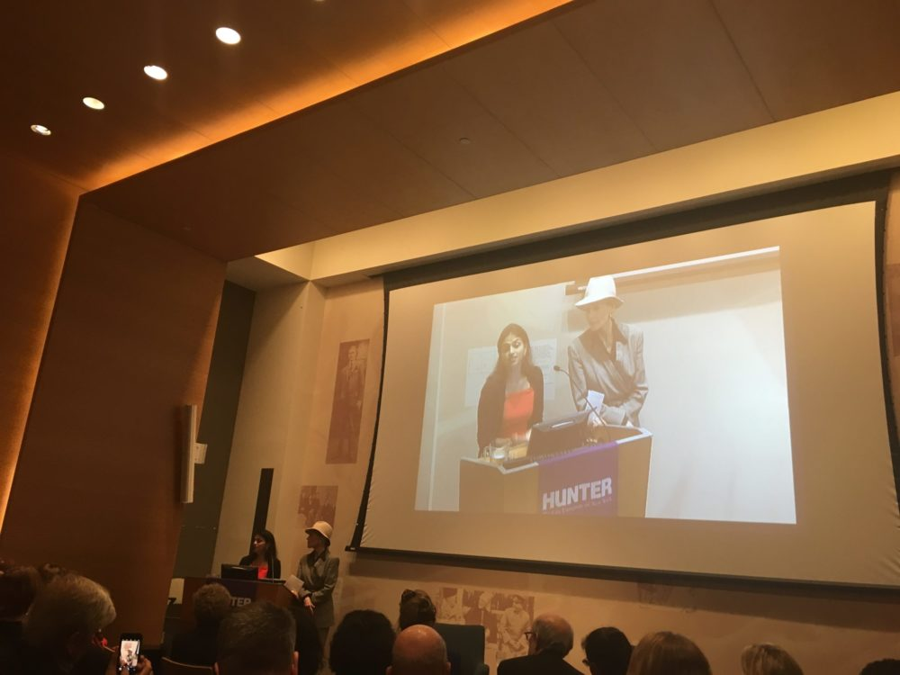 Advocate Saru Jayaraman, Co-Founder & Co-Director Of ROC United, And Actress-activist Jane Fonda Speak At The Roosevelt House Public Policy Institute At Hunter College On Tuesday In Support Of The One Fair Wage Campaign