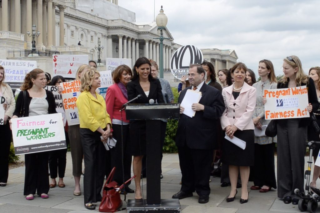 May 2012: Introduction of the Pregnant Workers Fairness Act