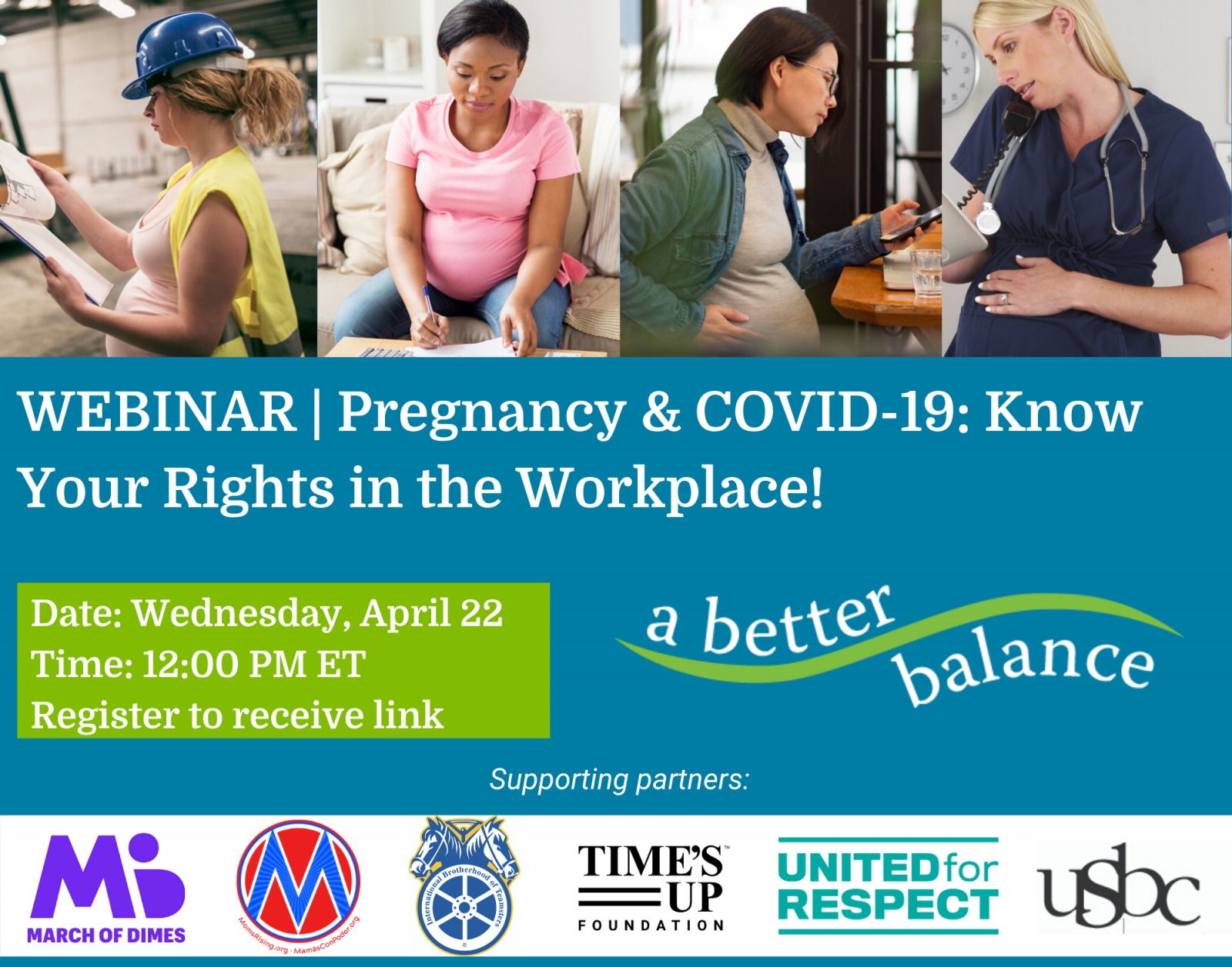 WEBINAR: Know Your Pregnancy & Workplace Rights During COVID-19 & Beyond